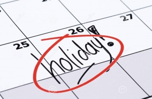 Availability Holiday calendar
