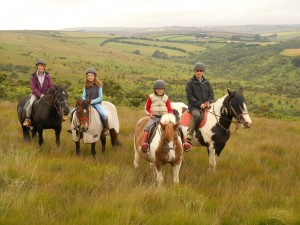 Exmoor horse riding Withypool